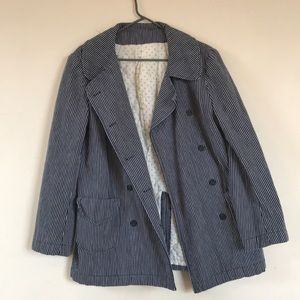 Jackets & Blazers - Vintage handmade peacoat, floral quilted lining